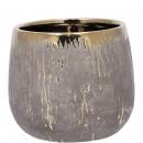 Ceramic bucket Goled D10cm, H9cm, for TO7, gold